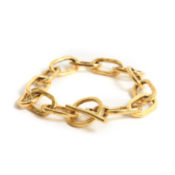 Bracelet 18x10mm Oval LinkAntique Gold