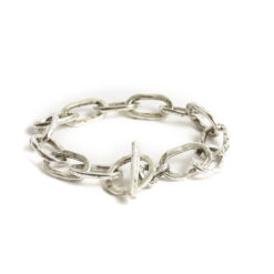 Bracelet 18x10mm Oval LinkAntique Silver