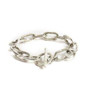 Bracelet 18x10mm Oval LinkAntique Silver