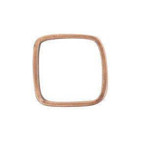 Ring Square size 7Antique Copper