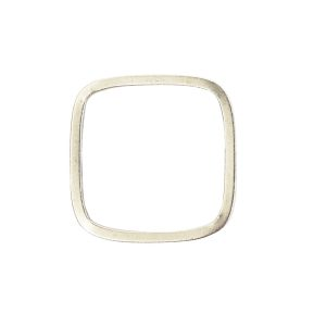 Ring Square Thin size 6Antique Silver