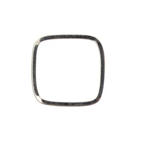 Ring Square Thin size 7Sterling Silver Plate