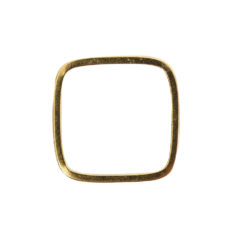 Ring Square Thin size 8Antique Gold