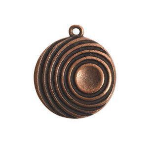 Pendant Charm Large Retro Single LoopAntique Copper