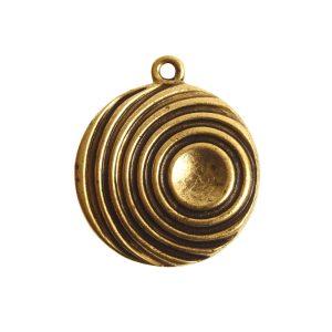 Pendant Charm Large Retro Single LoopAntique Gold