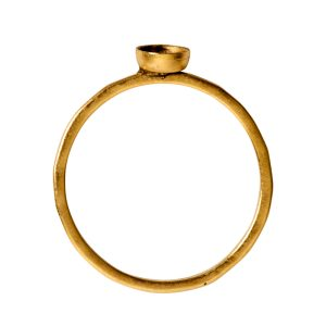Ring Hammered Thin Bitsy Circle Size 9Antique Gold