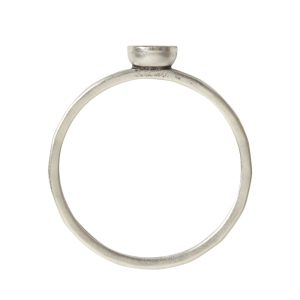 Ring Hammered Thin Bitsy Circle Size 8Antique Silver