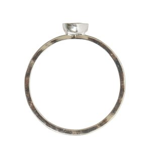 Ring Hammered Thin Bitsy Circle Size 9Sterling Silver Plate
