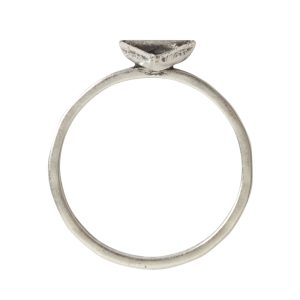 Ring Hammered Thin Bitsy Triangle Size 9Antique Silver