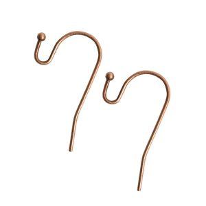 Ear Wire BallAntique Copper Nickel Free