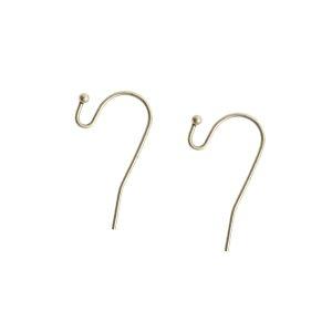 Ear Wire BallAntique Silver Nickel Free