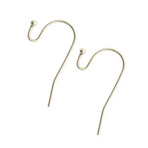 Ear Wire BallSterling Silver Plate Nickel Free