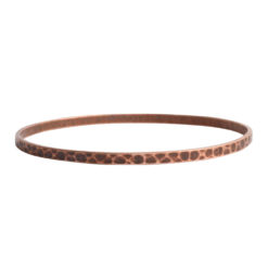 Bangle Bracelet Hammered ThinAntique Copper