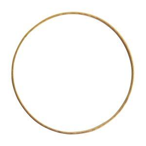 Bangle Bracelet Hammered ThinAntique Gold