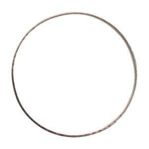 Bangle Bracelet Hammered ThinSterling Silver Plate