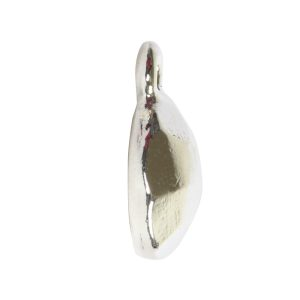 Charm Flat Back Faceted Circle 9mm Single Loop<br>Sterling Silver Plate