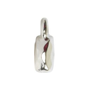 Charm Faceted Circle 6mm Single Loop<br>Sterling Silver Plate