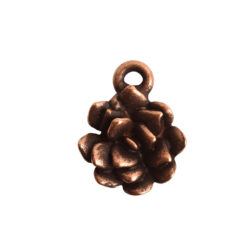Charm Succulent 12mm Single LoopAntique Copper