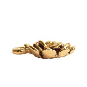 Charm Succulent 12mm Single Loop<br>Antique Gold