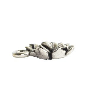 Charm Succulent 12mm Single Loop<br>Antique Silver