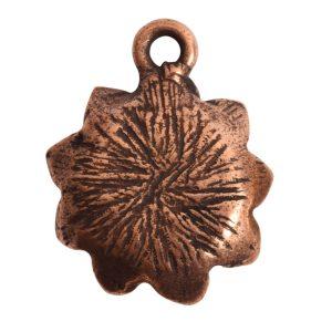 Charm Succulent 16mm Single LoopAntique Copper