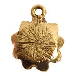 Charm Succulent 16mm Single Loop<br>Antique Gold