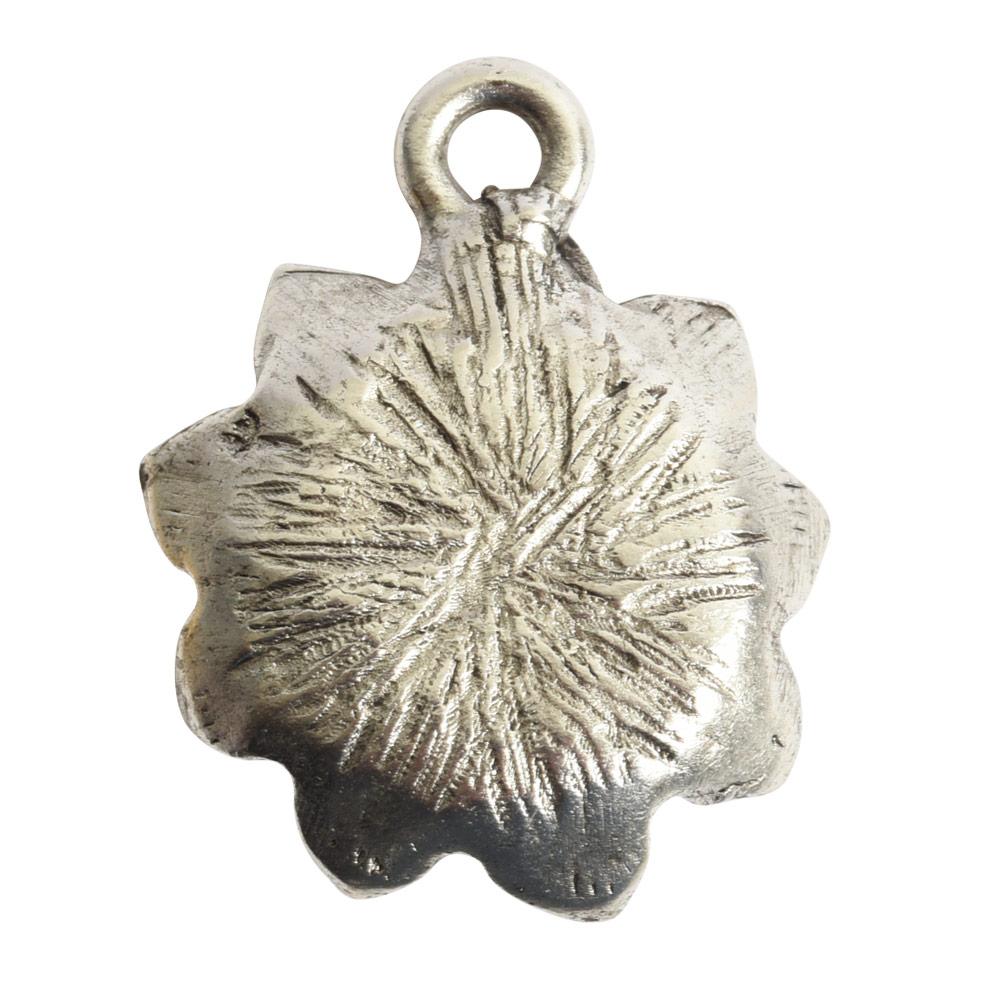 Charm Succulent 16mm Single LoopAntique Silver