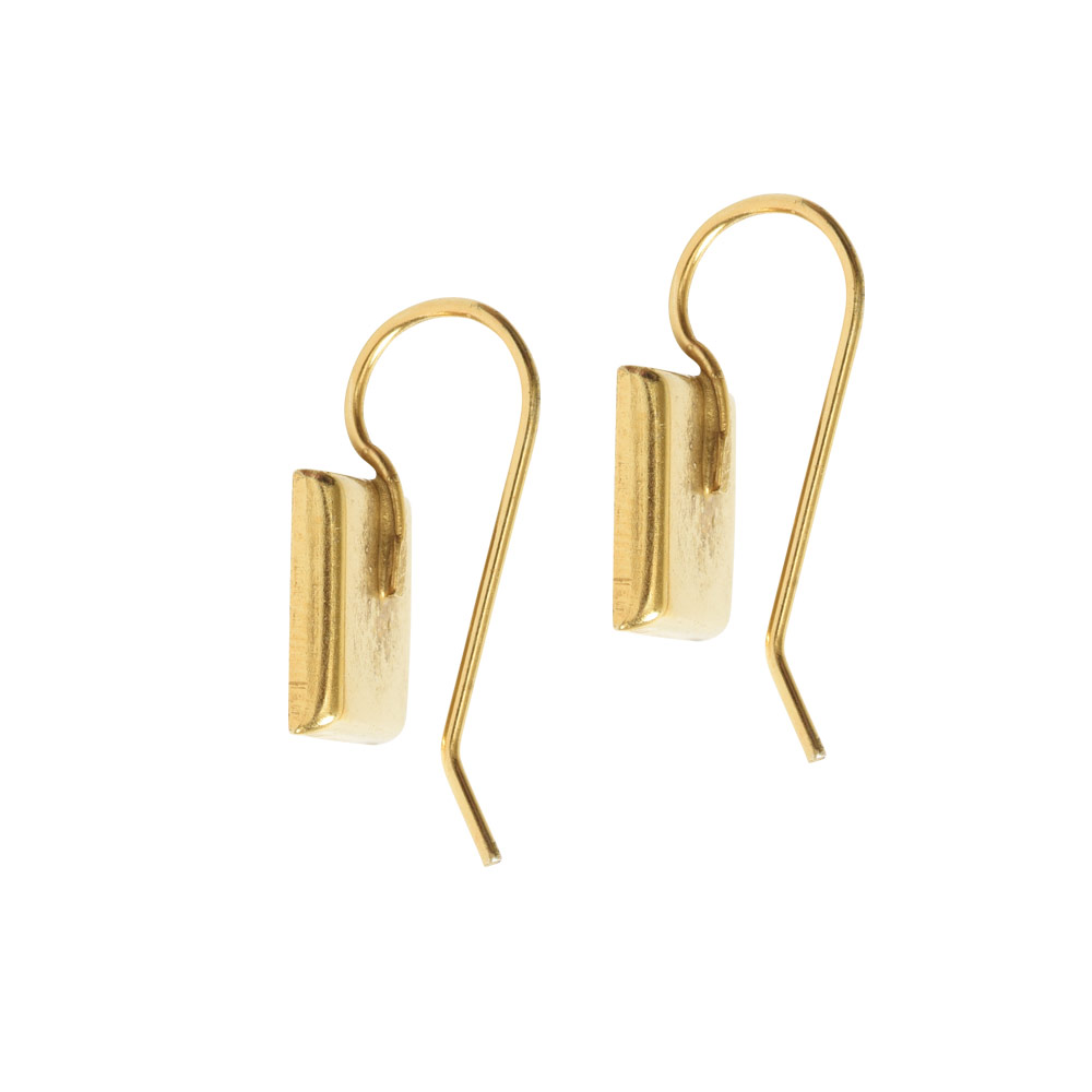 Earrng Wire 10mm SquareAntique Gold NF