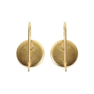 Earring Wire 12mm Circle<br>Antique Gold NF