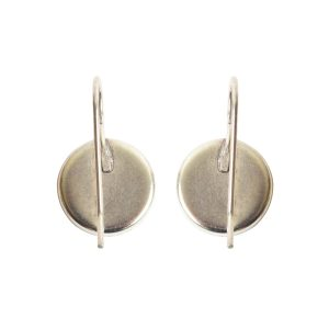 Earring Wire 12mm CircleAntique Silver NF