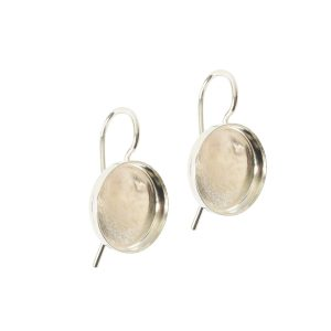 Earring Wire 12mm Circle<br>Sterling Silver Plate NF