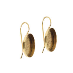 Earring Wire 14x10mm OvalAntique Gold NF