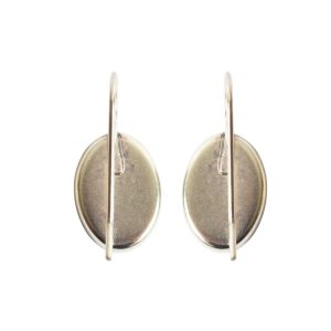 Earring Wire 14x10mm OvalAntique Silver NF