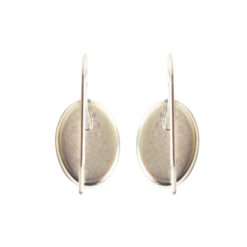 Earring Wire 14x10mm OvalSterling Silver Plate NF