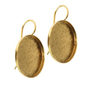 Earring Wire 18mm CircleAntique Gold NF