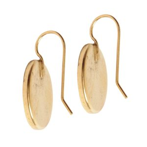 Earring Wire 18mm Circle<br>Antique Gold NF