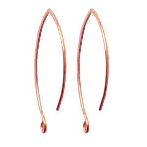 Ear Wire V-Style 33mm<br>Antique Copper
