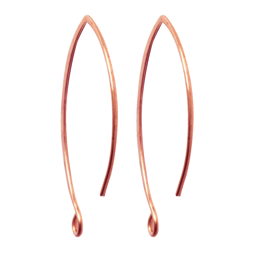 Ear Wire V-Style 33mmAntique Copper