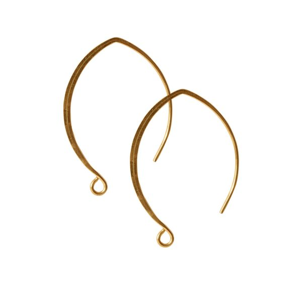 Ear Wire V-Style 33mmAntique Gold