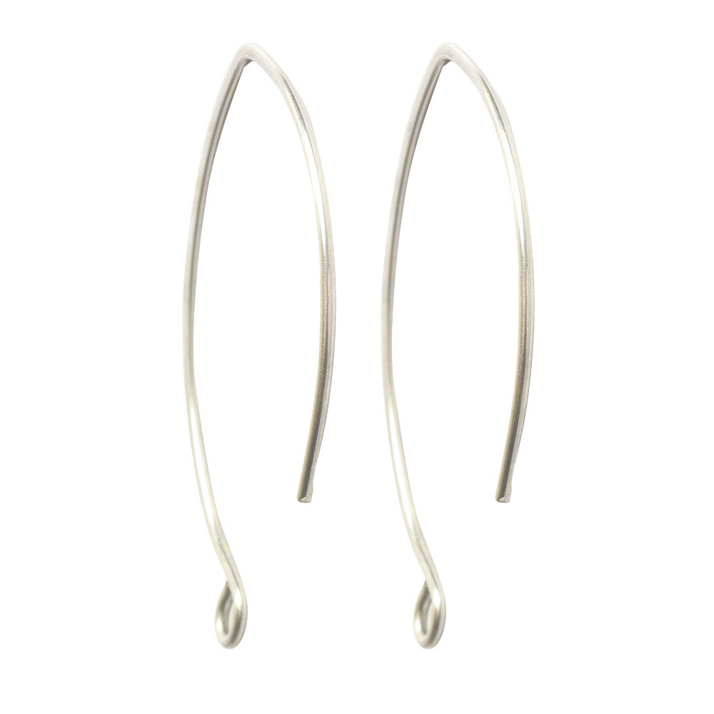 Ear Wire V-Style 33mmSterling Silver Plate
