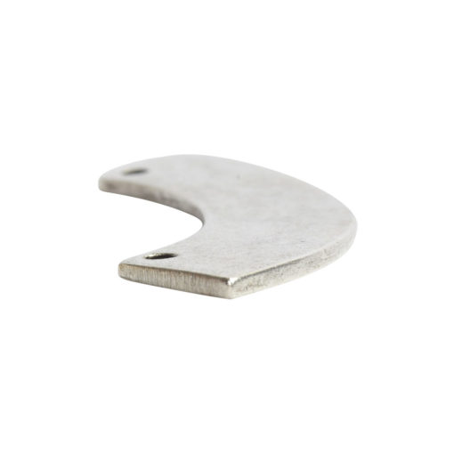 Flat Tag Grande Curved RectangleAntique Silver