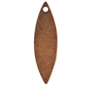 Flat Tag Grande Navette Single HoleAntique Copper