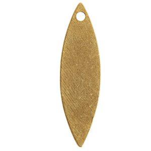 Flat Tag Grande Navette Single HoleAntique Gold