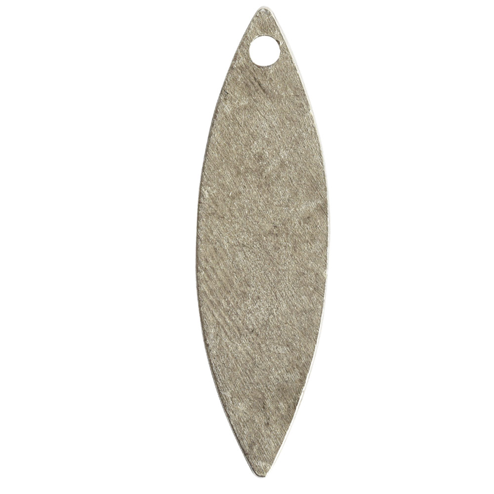 Flat Tag Grande Navette Single HoleAntique Silver