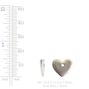 Flat Tag Mini Heart Single Hole<br>Antique Gold