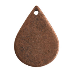 Flat Tag Small Drop Single HoleAntique Copper
