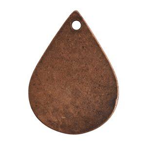 Flat Tag Small Drop Single HoleAntique Copper