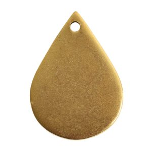 Flat Tag Small Drop Single HoleAntique Gold