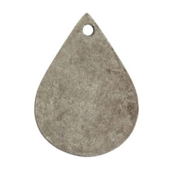 Flat Tag Small Drop Single HoleAntique Silver