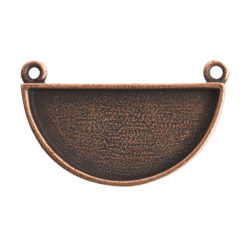 Grande Pendant Half CircleAntique Copper